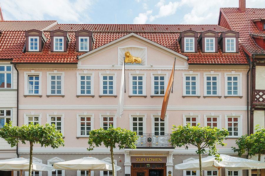 Fassadenansicht des Hotel zum Löwen, Duderstadt