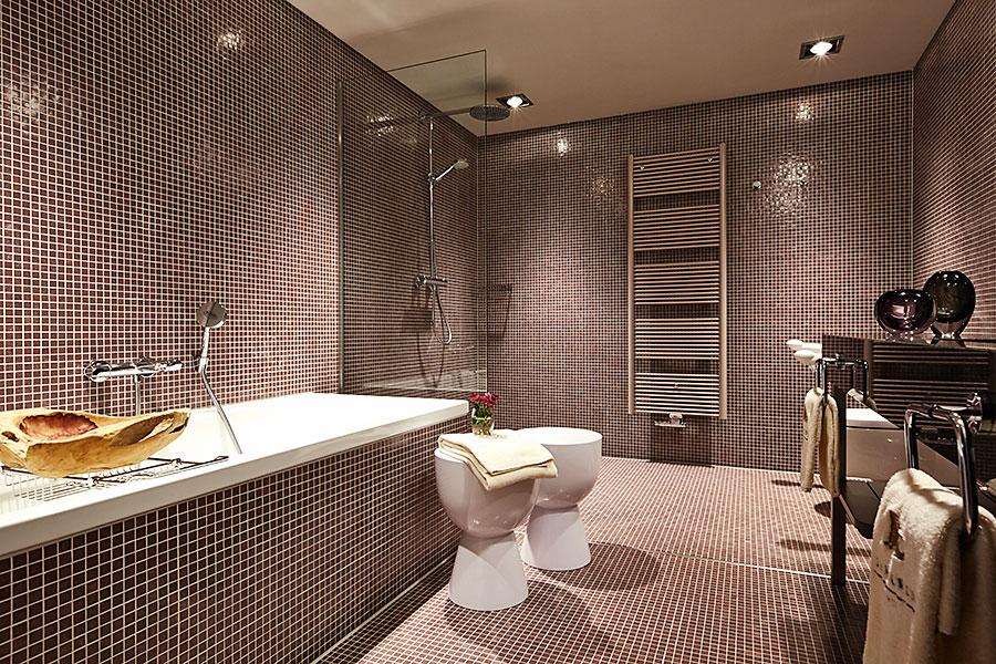 Badezimmer der Suiten im Hotel zum Löwen, Duderstadt